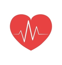 Pulse and heart shape icon love design vector