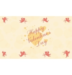 Happy valentine day for greeting card vector
