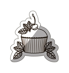 Sticker medium shade of cupcake vector