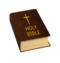 Holy bible  hard cover vector