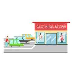 Clothing store boutique of women clothes fashion vector