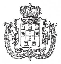 crown crest vector image