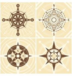 Vintage compass set vector