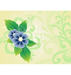 Beautiful light flower vector