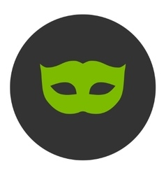 Privacy mask flat eco green and gray colors round vector