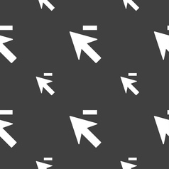 Cursor arrow minus icon sign seamless pattern on a vector