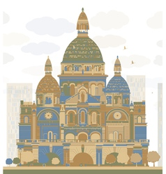 Basilica of the sacred heart paris vector