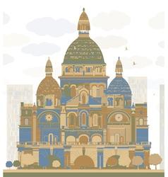 Basilica of the Sacred Heart Paris vector image