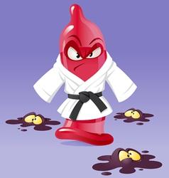 karate condom vector image