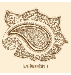 Elegant hand drawn paisley vector