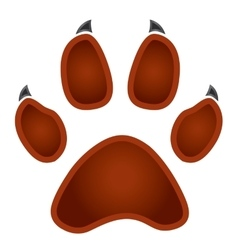 Paw logo silhouette vector