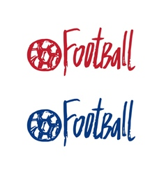 Hand drawn concept logo with text football vector
