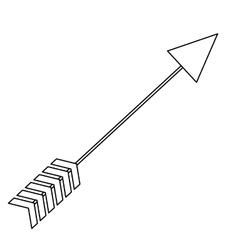 arrow archery icon image vector image vector image