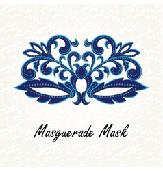 Beautiful masquerade mask of lace vector