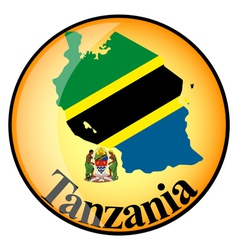 Button tanzania vector