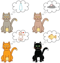 Cat thoughts in a bubble vector