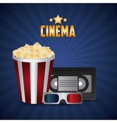Cinema design Movie concept Flat vector image vector image