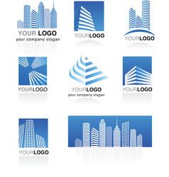City real estate logo vector