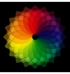 Color wheel background vector image vector image