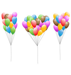 colorful balloons set vector image vector image