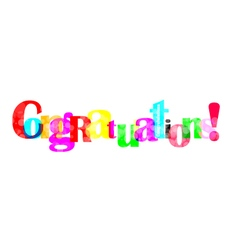 Congratulations letter for you design vector image
