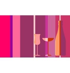 Design for wine event invitation vector image vector image