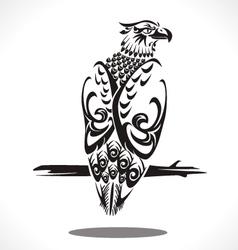Eagle tatto art vector