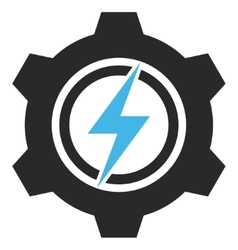 Electric cogwheel eps icon vector
