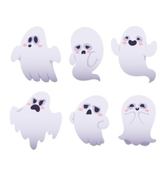 Ghost characters isolated vector image vector image
