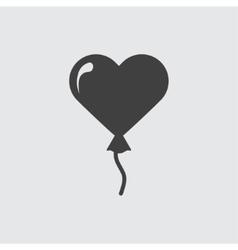 Heart baloon icon vector image vector image