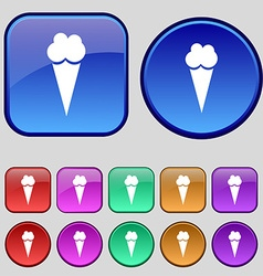 Ice Cream icon sign A set of twelve vintage vector image