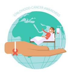 International childhood cancer day banner vector