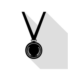 medal simple sign black icon with flat style vector image vector image