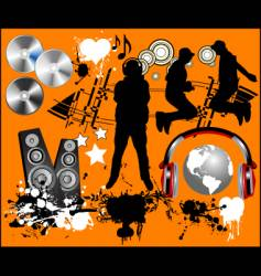 music design elements vector image