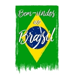 National Brazil flag vector image vector image