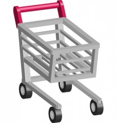 retail cart vector image vector image