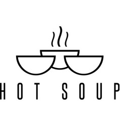 soup icon design template with bowls vector image