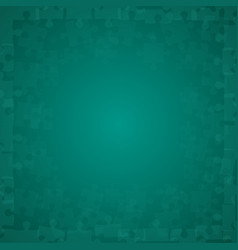 Teal puzzles pieces - jigsaw vector