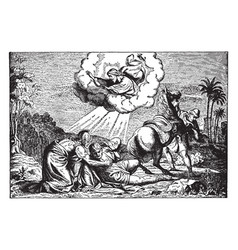 The conversion of paul - saul falls to the ground vector