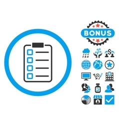 Examination flat icon with bonus vector