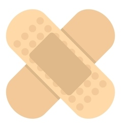 Medical plaster icon flat style vector