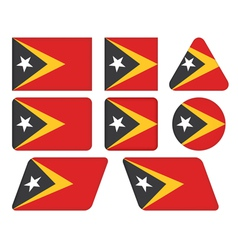 Buttons with flag of east timor vector