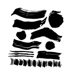 Hand drawn ink brush strokes vector