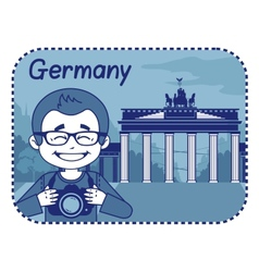 With brandenburg gate in berlin vector