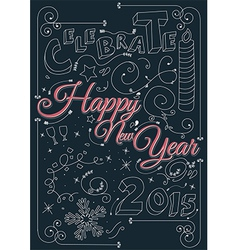Celebrate happy new year 2015 vector