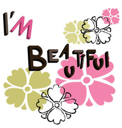 Text im beautiful vector