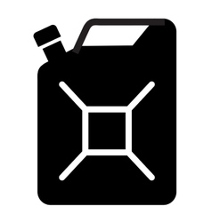 Gasoline logo design template jerry can of vector