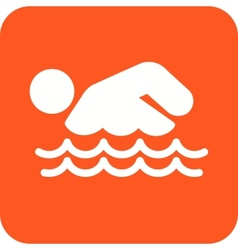 Swimming person vector
