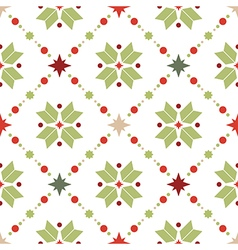 Seamless pattern of geometric snowflakes vector
