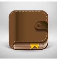 User interface ebook button icon vector